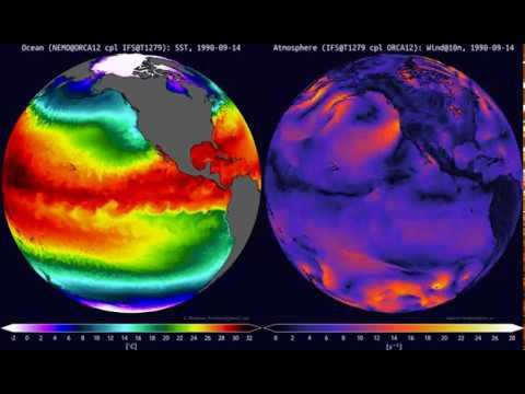 Embedded thumbnail for Global simulations of Sea Surface Temperature and Wind Speed