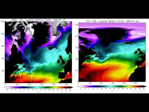 Embedded thumbnail for Simulations of the Sea Surface Temperature over the North Atlantic