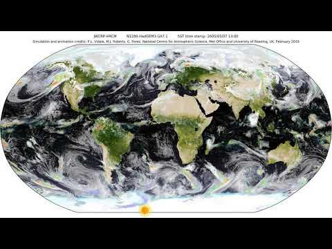 Embedded thumbnail for Clouds animation from a flagship Global Climate Model